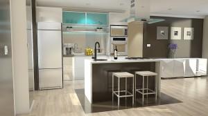 projeto acabamento cozinha compacta